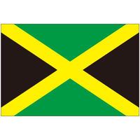 インクジェット国旗シール ジャマイカ Lサイズ 約66mm×99mm