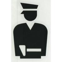 スコッチカルサインシール SC500-005 約90㎜ピクトステッカー 警察