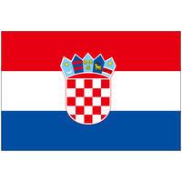 インクジェット国旗シール クロアチア Lサイズ 約66mm×99mm