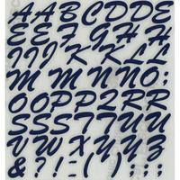 スコッチカルインレタシート 15mmセットパック 書体  ブラッシュスプリクト 大文字 B7200L-197 ライトネイビー