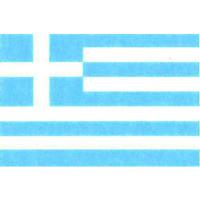 国旗フェイスシール ギリシア 30mm×45mm 薄手