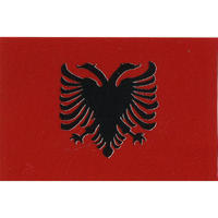 スコッチカル国旗シール アルバニア Lサイズ 100mm×150mm