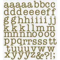 スコッチカルインレタシート 15mmセットパック 書体  アメリカンタイプライターM 小文字 A1807S-131 サテンゴールド