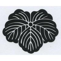 スコッチカル家紋シール 蔦 黒  SCK-055 約35mm
