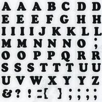スコッチカルインレタシート 10mmセットパック 書体  クーパー 大文字 10JC6BL-12 ブラック