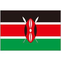 インクジェット国旗シール ケニア Lサイズ 約66mm×99mm
