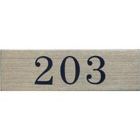 ステンレスサインプレート ST-A007 1㎜厚 粘着テープ付 30㎜×100㎜ 203