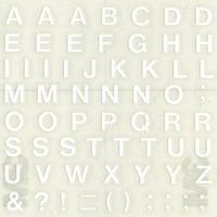 スコッチカルインレタシート 10mmセットパック 書体  ヘルベチカ 大文字 10JC1BL-001 ホワイト(001裏グレー)