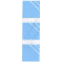 衝突防止シール SCSB-014 35㎜角6個入横線抜き ブルー