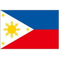インクジェット国旗シール フィリピン Mサイズ 約35mm×52mm