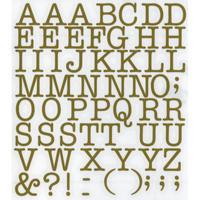 スコッチカルインレタシート 15mmセットパック 書体  アメリカンタイプライターM 大文字 A1807L-131 サテンゴールド