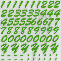 スコッチカルインレタシート 15mmセットパック 書体  ブラッシュスプリクト 数字 B7200N-196 アップルグリーン
