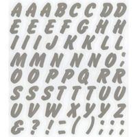 スコッチカルインレタシート 15mmセットパック 書体  ブラッシュ 大文字 JC6CL-120 シルバーメタリック
