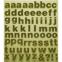 スコッチカルインレタシート 15mmセットパック 書体  ヘルベチカボールド 小文字 H0909S-431 ミラーゴールド