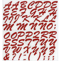 スコッチカルインレタシート 15mmセットパック 書体  ブラッシュスプリクト 大文字 B7200L-63 ゼラニウム