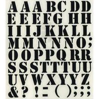 スコッチカルインレタシート 15mmセットパック 書体  ステンシル 大文字 S2700L-503 ハイテックブラック