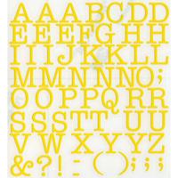 スコッチカルインレタシート 15mmセットパック 書体  アメリカンタイプライターM 大文字 A1807L-15 ブライトイエロー