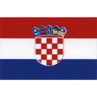 スコッチカル国旗シール クロアチア Lサイズ 100mm×150mm
