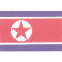 国旗フェイスシール 朝鮮民主主義人民共和国 30mm×45mm 薄手