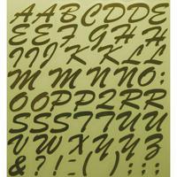 スコッチカルインレタシート 15mmセットパック 書体  ブラッシュスプリクト 大文字 B7200L-431 ミラーゴールド