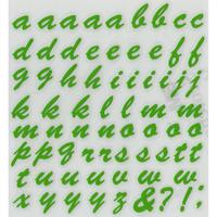 スコッチカルインレタシート 15mmセットパック 書体  ブラッシュスプリクト 小文字 B7200S-196 アップルグリーン