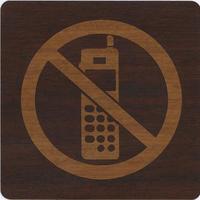 ダイノックサインシール DI-B002 100㎜×100㎜ 携帯禁止マーク
