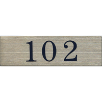 ステンレスサインプレート ST-A002 1㎜厚 粘着テープ付 30㎜×100㎜ 102