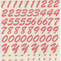 スコッチカルインレタシート 15mmセットパック 書体  ブラッシュスプリクト 数字 B7200N-173 サーモンピンク