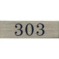 ステンレスサインプレート ST-A011 1㎜厚 粘着テープ付 30㎜×100㎜ 303