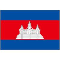 インクジェット国旗シール カンボジア Mサイズ 約35mm×52mm