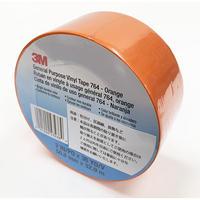 プラスチックフィルムテープ 764   ORA 50.8mm×32.9m オレンジ