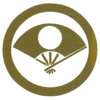 スコッチカル家紋シール 丸に日の丸扇 金  SCK-030 約35mm