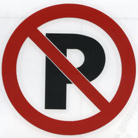 スコッチカルサインシール SC340-090 約40㎜ピクトステッカー 駐車禁止