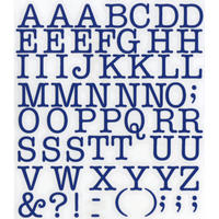 スコッチカルインレタシート 15mmセットパック 書体  アメリカンタイプライターM 大文字 A1807L-37 サファイアブルー
