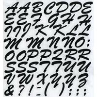 スコッチカルインレタシート 15mmセットパック 書体  ブラッシュスプリクト 大文字 B7200L-12 ブラック