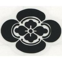スコッチカル家紋シール 木瓜 黒 SCK-109 約35mm