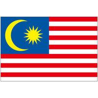 インクジェット国旗シール マレーシア Mサイズ 約35mm×52mm