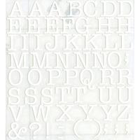 スコッチカルインレタシート 15mmセットパック 書体  アメリカンタイプライターM 大文字 A1807L-001 ホワイト(001裏グレー)