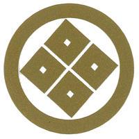 スコッチカル家紋シール 丸に隅立て四つ目 金  SCK-048 約35mm