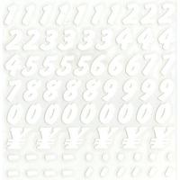 スコッチカルインレタシート 15mmセットパック 書体  ブラッシュ 数字 JC6CN-001 ホワイト(001裏グレー)