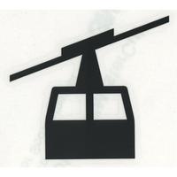 スコッチカルサインシール SC340-048 約40㎜ピクトステッカー ロープウェイ