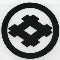 スコッチカル家紋シール 丸に井桁 SCK-005 黒 約35mm