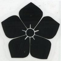 スコッチカル家紋シール 桔梗 黒  SCK-087 約35mm