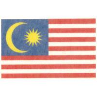 国旗フェイスシール マレーシア 30mm×45mm 薄手