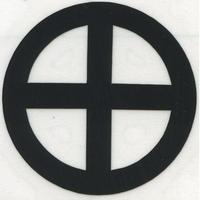 スコッチカル家紋シール 轡 黒  SCK-067 約35mm