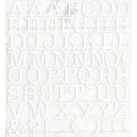 スコッチカルインレタシート 15mmセットパック 書体  アメリカンタイプライターM 大文字 A1807L-27 マットホワイト