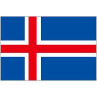 インクジェット国旗シール アイスランド Lサイズ 約66mm×99mm