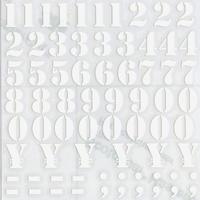 スコッチカルインレタシート 15mmセットパック 書体  ステンシル 数字 S2700N-001 ホワイト(001裏グレー)