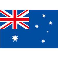インクジェット国旗シール オーストラリア Lサイズ 約66mm×99mm