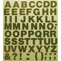スコッチカルインレタシート 15mmセットパック 書体  ヘルベチカボールド 大文字 H0909L-431 ミラーゴールド
